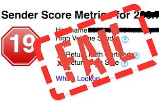 low sender score low deliverability