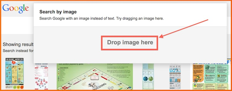 how to find images using google image search bar