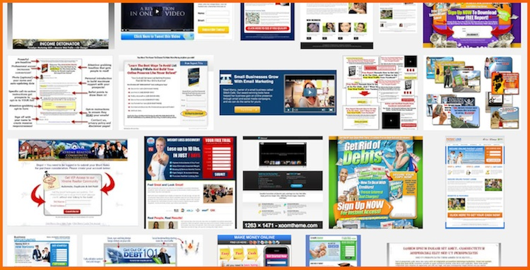 several types of squeeze pages to choose from
